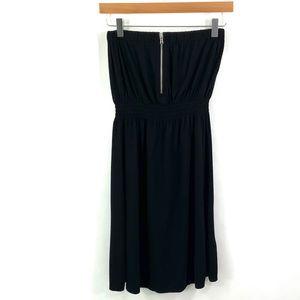 GAP Popover Black Smocked Tube Top Dress i26